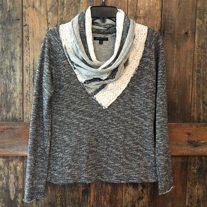 For Cynthia, S, Black & Beige Chunky Sweater